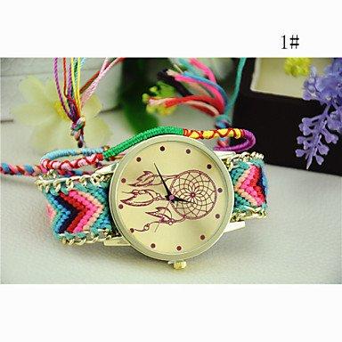 Fashion Watches Relojes Hermosos, Estilo Nacional de Corea del Sur Tejer atrapasueños Cadena de Reloj de Bricolaje de Las Mujeres de la Moda (Color : 1#, Talla : para Mujer-Una Talla)