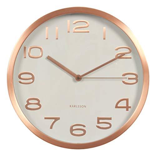 Karlsson Reloj de Pared, Metal, Cobre Maxie