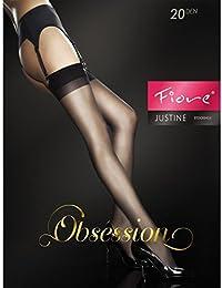 Fiore Justine / Obsession, Bas pour Porte-Jarretelles Femme, 20 DEN, Mat/Marron