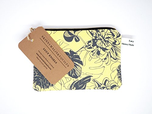 - 414Nx9DNZ1L - Yellow Change Purse, Monstera Floral Coin purse with Brass Zip  - 414Nx9DNZ1L - Deal Bags