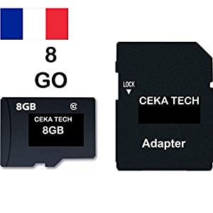 Tarjeta de Memoria Compatible con Xiaomi Redmi Go, CEKA TECH® Micro-SD 8GB Clase 10 con Adaptador SD