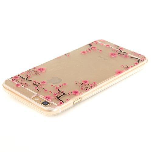 Qiaogle Téléphone Coque - Soft TPU Silicone Housse Coque Etui Case Cover pour Apple iPhone 5 / 5G / 5S / 5SE (4.0 Pouce) - TX77 / Noir mandala TX63 / Rouge peach