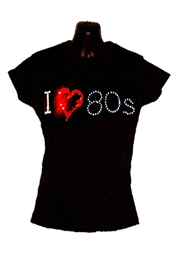 i-love-80s-eighties-ladies-fitted-t-shirt-crystal-rhinestone-design-rock-and-roll-disco-fancy-dress-