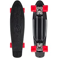 STAR-SKATEBOARDS® Vintage Cruiser Board ★ Edizione 22ª Diamante Categoria ★ Nero Diabolico & Rosso Ardente