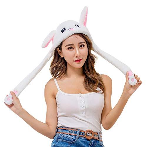 VJGOAL Damen Caps, Unisex Niedlichen Kaninchen Bunny Ear Hut kann Airbag Magnetkappe Plüsch Geschenke Tanz Spielzeug Weihnachten Geburtstagsgeschenk