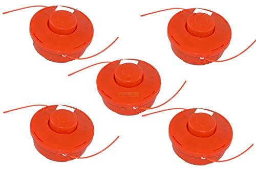 5 X Fadenspule mit Tippautomatik für Fuxtec/vidaXL / Leader/Monzana / Einhell/Brast / Nemaxx/Ryobi / Plantiflex/Timbertech / Berlan/Timberpro / KnappWulf/Zipper / Rotfuchs Motorsense Freischneider