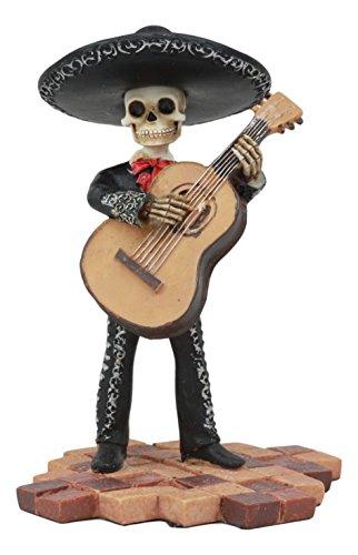 Ebros Tag der Toten Skelett Hochzeit Mariachi Bass Player Statue 13,3cm Hoch Traditionelle Folklore Mexikanischen Musiker Skulptur