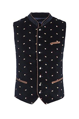 Stockerpoint - Herren Trachten Weste in verschiedenen Farbtönen, Calzado, Größe:60, Farbe:Schwarz