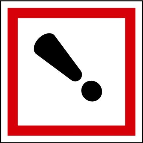 LEMAX® Aufkleber GHS 07 Gefahrensymbol Ausrufezeichen, Einzeln 100x100mm (Gefahrensymbole)