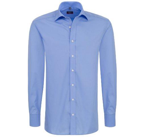 eterna -  Camicia classiche  - Basic - Classico  - Maniche lunghe  - Uomo Blu