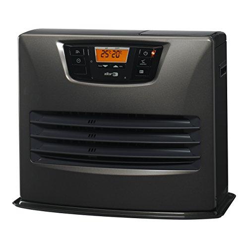 Zibro LC 150 Stufa a Combustibile Elettronica, 4,65 Kw, 4650 W, Autonomia fino a 50 ore, 30m2-76m2,Grigio