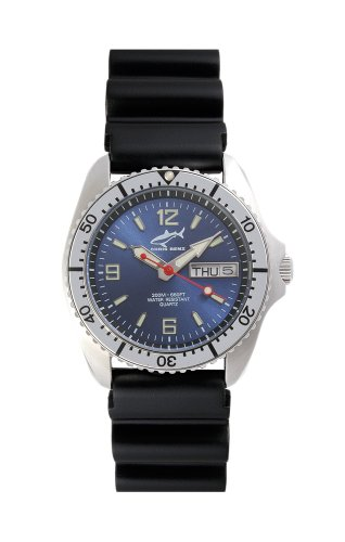 Chris Benz One Medium CBM-B-SI-KB Unisexuhr Taucheruhr