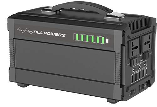 ALLPOWERS Solar Generator 288Wh/78000mAh Stromgenerator 220V AC Steckdose 12V DC und USB C Solarbatterie Tragbarer Solar Wechselrichter Aufgeladen durch Solarpanel/Steckdose/Auto/Powerbank