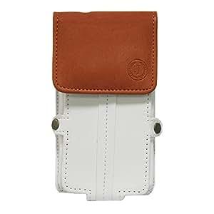 Jo Jo A6 Nillofer Series Leather Pouch Holster Case For InFocus Bingo 50White Orange
