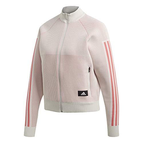 adidas Damen W Id Knit Trtop T-Shirt, Rawwht/Pripnk, S -