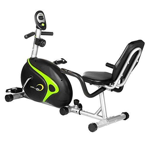 HMS Recumbent Magnetic Bike R9203, black/green, One size, 17-1-106