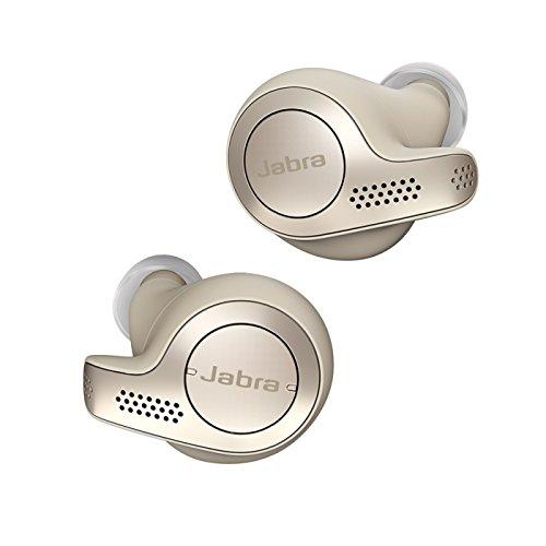 Jabra Elite 65t True Wireless Stereo in-Ear-Kopfhörer (Bluetooth, Musik hören und telefonieren, Sprachsteuerung für Alexa, Siri und Google Assistant) gold beige