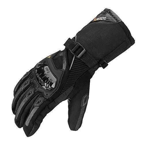 Motorradhandschuhe Winter, Winterhandschuhe Motorrad, Handschuhe Winter Warm Handschuhe Touchscreen Handschuhe Wasserdicht Winddicht Sporthandschuhe (XXL,Schwarz)