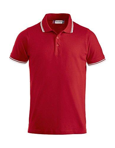 CliQue Herren Poloshirt Amarillo Polo Shirt Rot