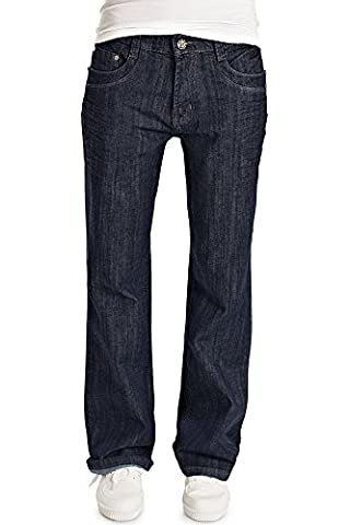 Bestyledberlin Damen Bootcut Jeans, Weite Loose Fit Jeanshosen, Lockere Denim Hosen j54i 36