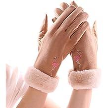 ZPSPZ Guantes mujer Guantes cálidos el otoño y el Invierno con Pantalla tactil de Terciopelo,
