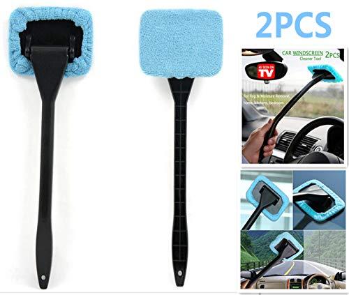 DSHT Paquete de 2 Herramientas limpiadoras de Parabrisas de Autos Desde la Ventana Interior Herramientas...