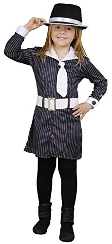 Mädchen Gangster Kostüme (10-12 Jahre) (Mädchen, Gangster Kostüm)