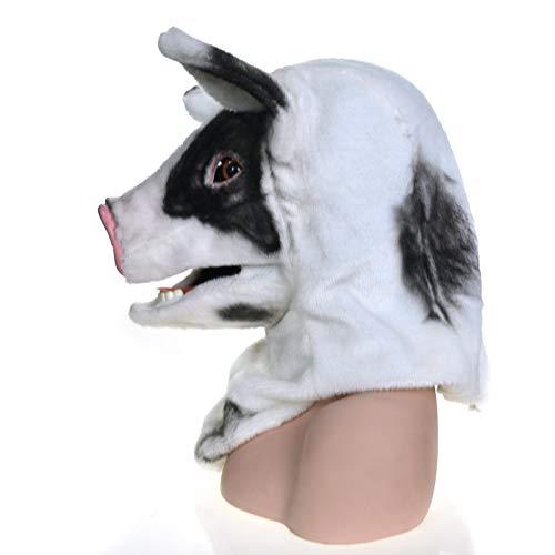 nachtsmasken Tierkopf-maske Hochwertige Handgemachte Kundenspezifische Partei Bewegliche Mundmaske Geflecktes Schwein Simulation männer Kostüm Erwachsene Tiermasken ()