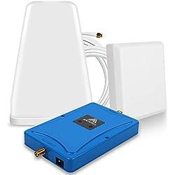 ANYCALL Amplificateur de Signal Mobile LTE 4G 800/2600MHz, Dual Bande (Bande 20/Bande 7) Booster 4G, Kit Répéteur Antenne Logarithmique et Murale, pour Maison Bureau