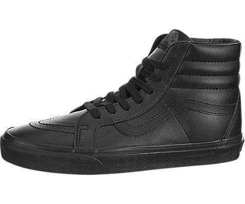 Vans uomo scarpe da ginnastica in pelle rigenerata sk8-hi, nero, 42