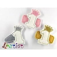 GEBURTSTAG Nummern und Ziffern Spangen lustig dekoriert für Babys und Mädchen