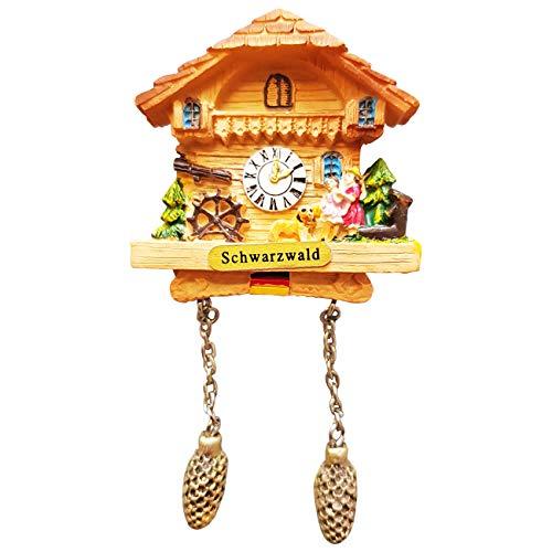 Ciffre Kuckucksuhr Magnet Polyresin Kühlschrank Beige Haus Familie - Schwarzwald