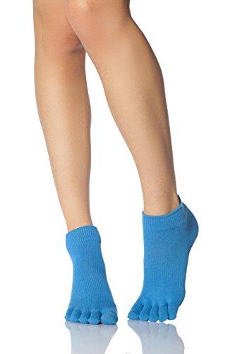 Mesdames-1-Paire-ToeSox-Low-Rise-pleine-Toe-coton-biologique-Chaussettes