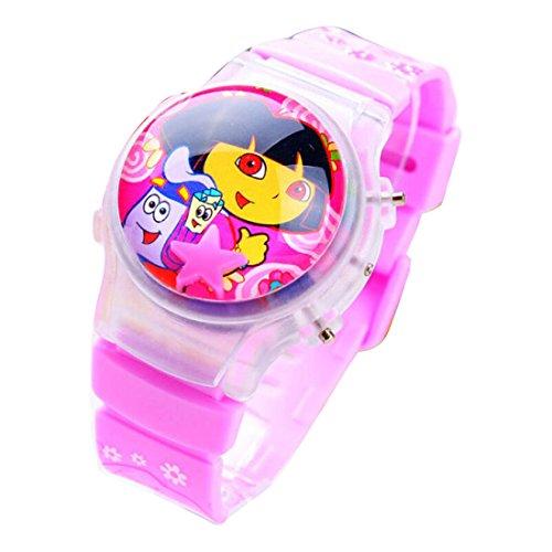 Dora children kids cartoon Uhren Watches flip Watch WP@KTW166697P (Dora Womens)