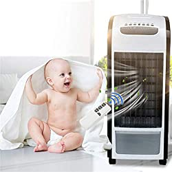 Air Climatiseur,Rameng Air Refroidisseur 4 EN 1 Climatiseur Humidificateur Purificateur Fan,Rafraîchisseur d'air Mobile avec Télécommande