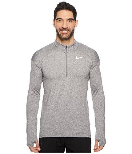Nike Herren Dry Element 1/2 Zip Laufshirt - grau - X-Groß Nike Mock Neck