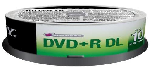 Sony 10DPR85SP DVD+R DL Rohlinge (16x Speed, 8,5GB, 240 Min, 10-er Stück Spindel) Sony Dvd-brenner