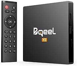 Bqeel Android TV Box【2GB+16GB】 Smart TV Box Y2 unterstützt 4K/H.265/ WiFi IEEE 802.11b / g / n, 2.4G LAN/ 10M / 100Mbps LAN/ 64 Bits Android 7.1 TV Box