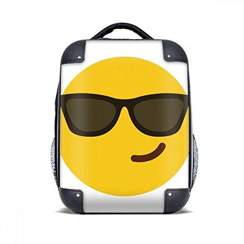Sonnenbrillen-tragetasche Mehrere (diythinker Sonnenbrille Cool gelb Süßes Online-Chat Hard Case Schulter Tragetasche Kinder Rucksack Geschenk 38,1cm)