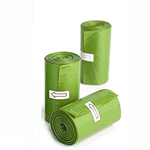 Sandesh Garbage Bags Biodegradable For Kitchen,Office,Small Size 60 Bags (Green,43cmX48cm)(Dustbin Bags/Trash bags)