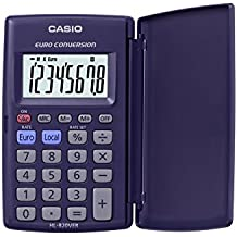 CASIO HL-820VER-SA-EH - Calculadora básica, 10 x 62.5 x 104 mm cerrada, 7.5 x 127 x 104 mm abierta, azul marino