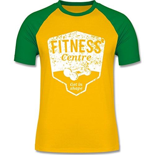 CrossFit & Workout - Fitness Centre - zweifarbiges Baseballshirt für Männer Gelb/Grün