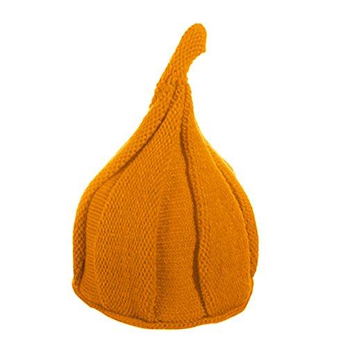 Yosemite Süße Kind Mädchen Jungen Mütze Cap stricken Warm Twisted Zipfelmütze, Orange (Infant Beanie Orange Knit)