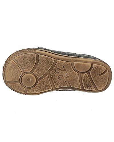 EN-FANT fille bottines à lacets en cuir, bronze, taille 24, 814126U-51 gris anthracite