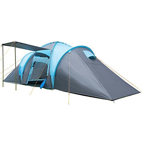 Skandika - hammer, tenda da campeggio per 6 persone, colore: blu/nero
