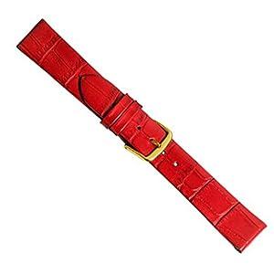 Louisiana Clip Uhrenarmband Kalbsleder Rot 20466G, Stegbreite:10mm