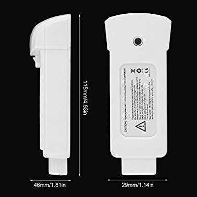 For Yuneec Breeze Battery, Compact 11.1V 1300mAh Lithium Polymer Battery for Yuneec Breeze Drone Accessories - White