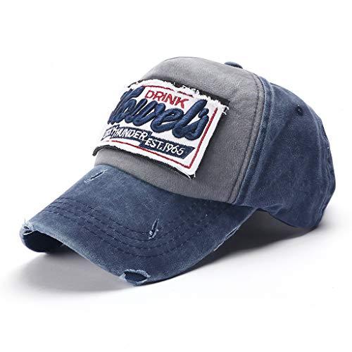Imagen de twifer nueva unisex  de béisbol mezclado motocicleta  molienda borde haga viejo sombrero hip hop impresión bordada casuales transpirable ajustable