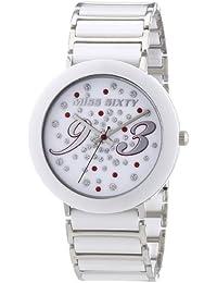 Miss Sixty R0753112501 - Reloj analógico para mujer de cerámica blanco