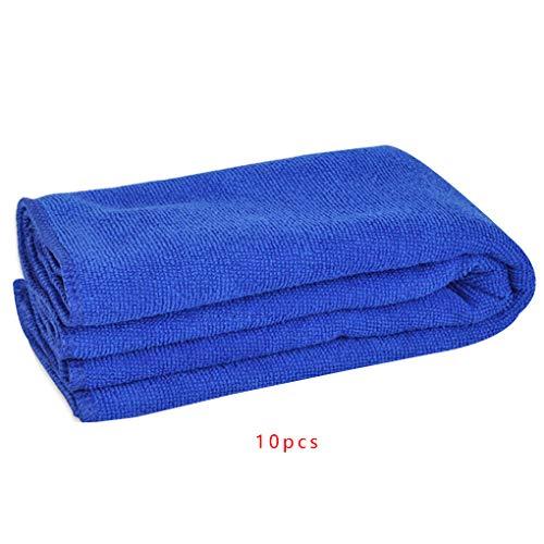 Ruiboury 10pcs Mikrofaser Wasser absorbiert Soft Car Waschen Körper Haustier-Reinigungs-Haar-trocknenden Startseite Abstauben Handtuch -